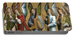 Christ With Singing And Music-making Angels - Panel 2 Portable Battery Charger