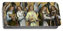 Christ With Singing And Music-making Angels - Panel 3 Portable Battery Charger