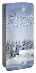 Christmas Country Cottage Portable Battery Charger