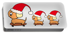 Christmas Dogs On Skateboards Portable Battery Charger