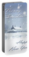 Christmas Farmhouse Portable Battery Charger