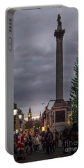 Portable Battery Charger featuring the photograph Christmas In Trafalgar Square, London by Perry Rodriguez
