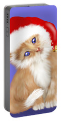 Christmas Kitten Portable Battery Charger