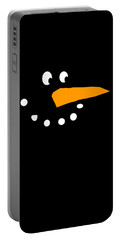 Portable Battery Charger featuring the digital art Christmas Snowman by Flippin Sweet Gear