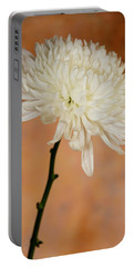 Chrysanthemum On Canvas Portable Battery Charger