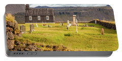 Church Cemetery Of Iceland Portable Battery Charger