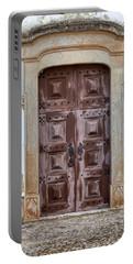Church Door Of Obidos Portable Battery Charger