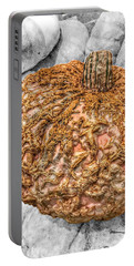 Portable Battery Charger featuring the photograph Cinderella's Gold Lace Pumpkin by Marianna Mills