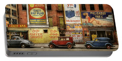 Portable Battery Charger featuring the photograph City - New York Ny - Elite Lunch Bar 1938 by Mike Savad