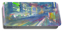 Portable Battery Charger featuring the painting Cityscape 2 by Dobrotsvet Art
