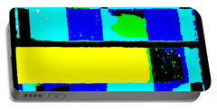 Cityscapec 4000 Original Fine Art Painting Digital Abstract Triptych Portable Battery Charger