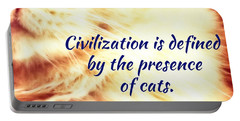 Portable Battery Charger featuring the photograph Civilization by Judy Kennedy