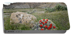 Clarion Cactus Blooms In Book Cliffs Portable Battery Charger