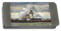 Cleveland Lighthouse Storm  Portable Battery Charger