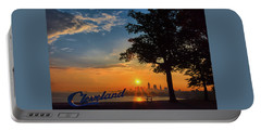 Cleveland Sign Sunrise Portable Battery Charger