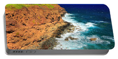 Cliff On Pacific Ocean Portable Battery Charger