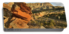 Cliffside Rock Cropping In Colorado National Monument Portable Battery Charger