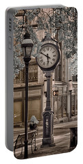Clock On Street Portable Battery Charger