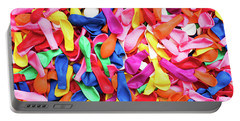 Close-up Of Many Colorful Children's Balloons, Background For Mo Portable Battery Charger