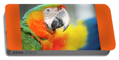 Close Up Of The Macaw Bird. Portable Battery Charger