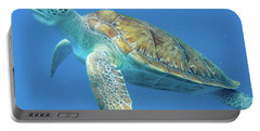 Close Up Sea Turtle Portable Battery Charger