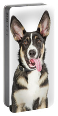 Closeup Cute Puppy Tongue Hanging Out Portable Battery Charger