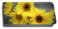 Cloud Of Sunflowers Portable Battery Charger