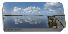 Portable Battery Charger featuring the photograph Cloud Reflections by Liza Eckardt