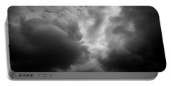 Clouds 36 In Black And White Portable Battery Charger
