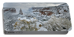 Clouds Break Over Snow Covered Independence Canyon Portable Battery Charger