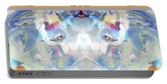 Portable Battery Charger featuring the painting Clouds by John Jr Gholson