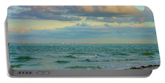 Clouds Over Sanibel Beach Portable Battery Charger