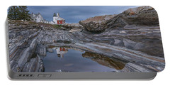 Cloudy Afternoon At Pemaquid Point Portable Battery Charger