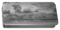 Portable Battery Charger featuring the photograph Cloudy Morning Rough Waves by Steve Stanger