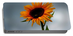 Cloudy Sunflower Portable Battery Charger