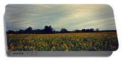 Cloudy Sunflowers Portable Battery Charger