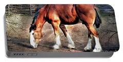 Clydeddale Horse  Digital Painting Portable Battery Charger