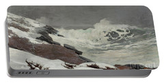 Coast In Winter, 1892 Portable Battery Charger