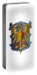 Portable Battery Charger featuring the drawing Coat Of Arms Of Friuli  by Hugo Stroehl