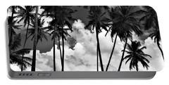 Coconut Trees At Mayaro Portable Battery Charger