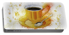Coffee Art Portable Battery Charger