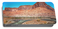 Portable Battery Charger featuring the photograph Colorado River At Salt Wash by Andy Crawford