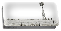 Portable Battery Charger featuring the photograph Colorado Windmill by Andy Crawford