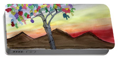 Colored Tree Portable Battery Charger