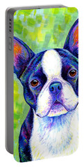 Colorful Boston Terrier Dog Portable Battery Charger