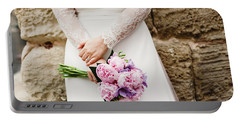 Colorful Bridal Bouquets With Flowers Portable Battery Charger