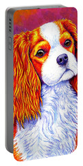 Colorful Cavalier King Charles Spaniel Dog Portable Battery Charger
