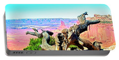 Colorful Desert Landscape Portable Battery Charger