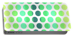 Colorful Dots Pattern - Polka Dots - Pattern Design 3 - Turquoise, Teal, Blue, Green, Aqua Portable Battery Charger