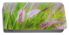 Colorful Flowers In Purple Spikes, Purple Fountain Grass, Close- Portable Battery Charger